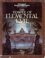 THE TEMPLE OF ELEMENTAL EVIL T1-4 VGC! TSR 9147 D&D (8)