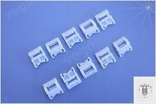10x soporte las molduras para renault barras laterales soporte de fijación 7703077256