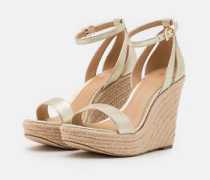 Michael Kors Kimberly Wedge Matte Metallic Pale Gold Women's sizes 5.5-10/NEW!!