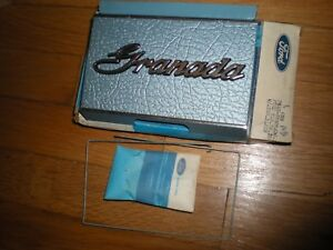 NOS 1975 FORD GRANADA FUEL FILLER OPENING DOOR SILVER BLUE D5DZ-66405A26-D
