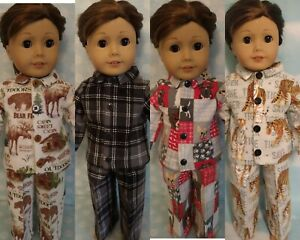 """18"""" Boy Doll Pajamas fits 18 inch American Girl Doll Clothes 455abcd"""