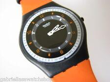 FLATTERY! Swatch Orange/Black SKIN with Ultra light SKIN Band! NIB-RARE!
