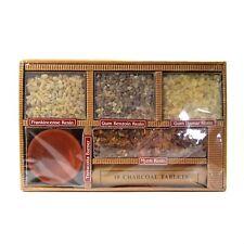 Resin Incense Gift Set Charcoal Tablets Burner Gum Damar Benzoin Frankincense