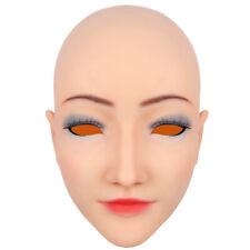 Silikon Beauty Headwear Headpiece Kopf- und Gesichts-Make-up für Crossdresser