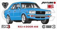 Mazda Rotary RX3 - 4 DOOR Sticker - #08