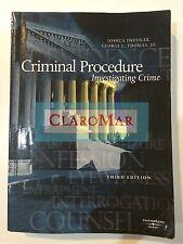 ☀️ Criminal Procedure : Investigating Crime Joshua Dressler George Thomas Book