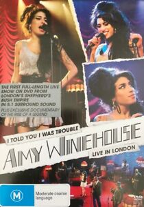 Amy Winehouse: I Told You I Was Trouble - Live in London DVD NEW