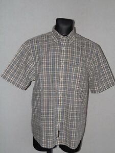 Timberland mens cotton short sleeve check shirt size M