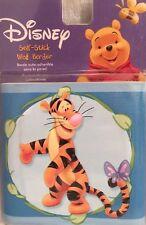 Walt Disney Winnie the Pooh Friends Blue Self Stick Child Wallpaper Wall Border