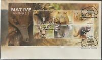 "2015 FDC Australia. Native Animals. M.S. ""Wombat"" PictFDI ""GREENBUSHES"""