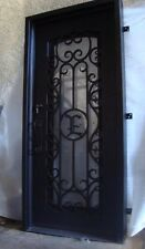 "Hand-Crafted Custom Wrought Iron Entry Door 31"" X 81"" (Your Choice of Initial)"