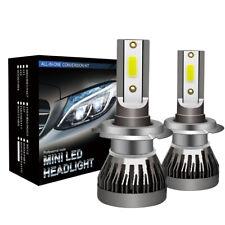 2x H7 180W 30000LM COB Car LED Headlight Conversion Kit Lamp 6000K White Bulbs