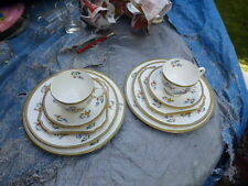2x Vintage Antique Aynsley  30's -50's Bone China Trio Tea Cup Saucer Plates