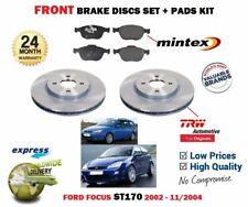 Para Ford Focus ST170 + Turnier 2002-11/2004 Discos Freno Delantero Set + Kit