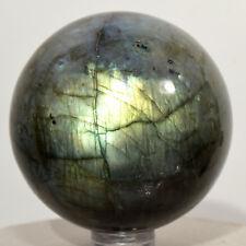 "2.2"" Rainbow Labradorite Sphere Natural Spectrolite Mineral Stone - Madagascar"