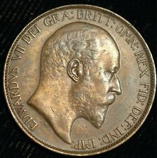 More details for halfpenny edward vii 1904 gef scarce in high grade (t13)