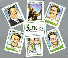 GLASGOW CELTIC FC LISBON LIONS LARGE ILLUSTRATED COLLECTABLE CARD SET.