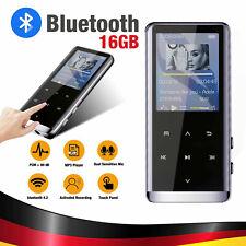 16GB MP3 Player Bluetooth HiFi Bass MP4 Musik Spieler 1,8'' LCD Display FM Radio