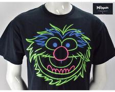 The Muppets Animal Neon Glow In Dark  Sesame Street Short Sleeve T Shirt Large