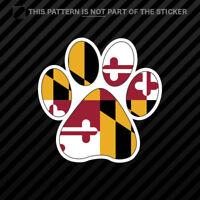 Maryland State Shaped Paw Print Sticker Self Adhesive Vinyl Dog Cat Pet Puppy