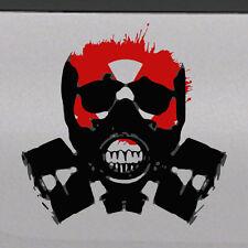 Bio-hazard Skull Zombie Mask Tailgate Hood Window Decal Vehicle Truck Car Vinyl