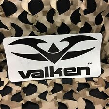 New Valken Paintball Logo Sticker - Black on White