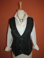 New Dress Barn Size XL Pinstripe Denim Jean Vest