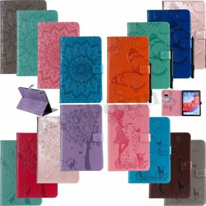 Embossed Smart Flip Leather Stand Case Cover For iPad 4 5 6 Gen 9.7 Mini/Air/Pro