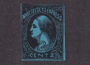 1857 U.S. Scott #146L1 Whittelsey's Express Ill. Blue Carrier Stamp - Fake