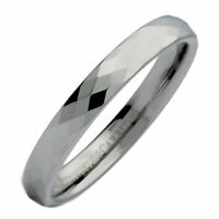 3, 4, 6 or 8mm Honeycomb Ring With Diamond Pattern Tungsten Carbide Wedding Band