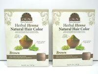 2 PACK Okay Pure Natural Herbal Henna Natural Hair Color BROWN Chemical Free NEW