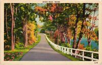 Vintage Postcard - Posted 1944 River Road Maine ME White Boarder #2893