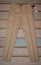 Ralph Lauren BNWT Boys Stylish Skinny Fit Beige Suit Trousers Age 14 Years