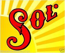 """2 Sol 14"""" Cornhole Vinyl Decals Stickers Baggo Toss Beer"""