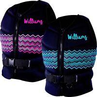 Williams Kaylee Ladies Neoprene WaterSki Wakeboard Life Jacket Size 4-18