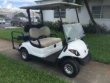 2015 white Yamaha g29 drive Dre 4 seat passenger 48 volt 48v Golf Cart