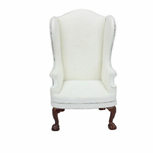 Doll Furniture miniature 1/6 scale Fabric wing chair model