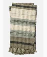 Loloi Iris Collection Hand Crafted Throw Blanket, Grey/Ivory