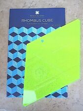 "Rhombus Template !0"" & Rhombus Cube Quilt Pattern New by Missouri Star Quilt Co"