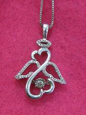 Jane Seymour Open Heart 925 RHYTHM Diamond ANGEL Necklace $349 OFFERS CONSIDERED