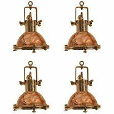 Nautical Marine Ship Brass & Copper Pendent Lights Set of 4