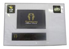 Egyptian Cotton & Silk Queen Size Bed Sateen Sheet Set 630TC -  White
