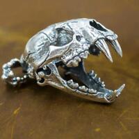 80g heavy lion tiger skull 925 sterling silver ag authentic genuine mens pendant