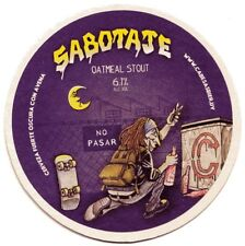 """Uruguay beer coaster Cabesas Bier """"Outmeal Stout"""""""