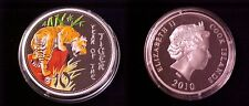2010 Cook Is Large Color  Silver Proof $10 Year of the Tiger