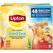 Lipton Gallon Family Sized Black Iced Tea Unsweetened Tea Bags - 48 Pack