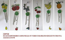Campana a vento scacciaguai scacciapensieri carillon in vetro soggetto frutta