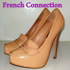 """Amazing """" French Connection"""" Beige / NUDE  LEATHER Pumps  Shoes UK 6 EU 39  £85"""