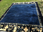 Qing Dynasty, Imperial Blue Chinese Carpet