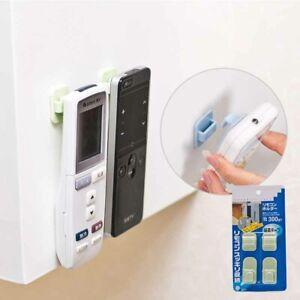 Plastic Hooks 2 pair (4Pcs) Sticky Set TV Air Conditioner Remote Control Hanger